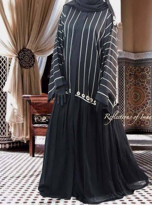 Kimono Black Pleated Kuwaiti Abaya Abayas Fashion Moslem Fashion Abaya Fashion