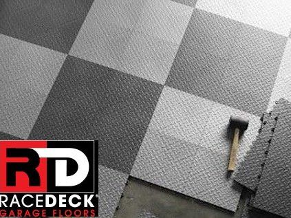 Race Deck Interlocking Garage Floor Tiles Snap Together Easy Diy