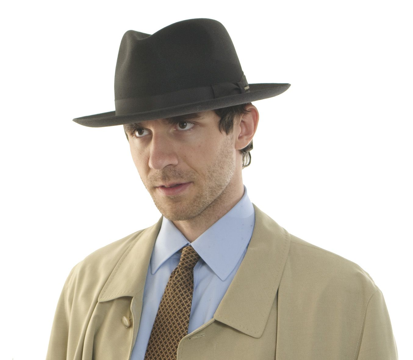 Stetson Penn - stylish  fedora hat in grey.  d034f33ea5c2