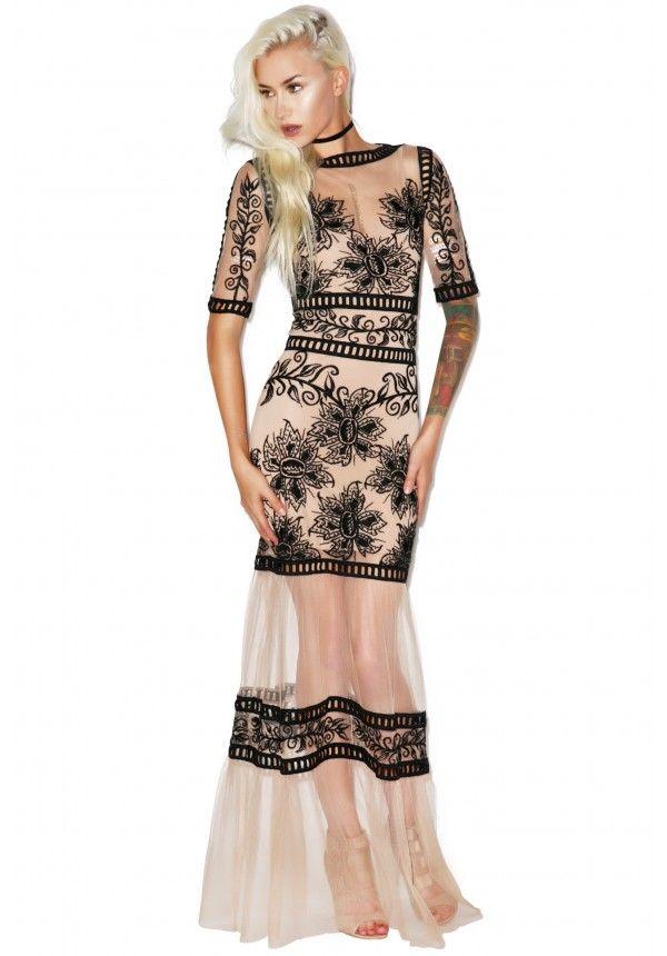 For love and lemons desert nights maxi dress