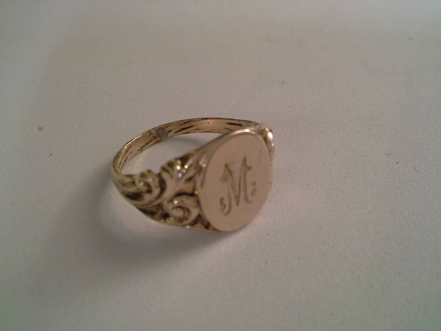 Sterling Silver Personalized Oval Ring Teen Ring Monogrammed Ring