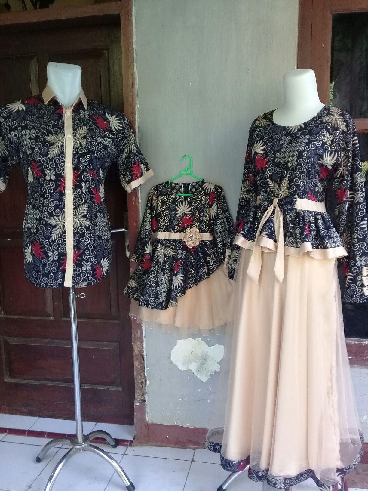 Baju batikdipadu dengan kain tile dan satin..cantik sekali