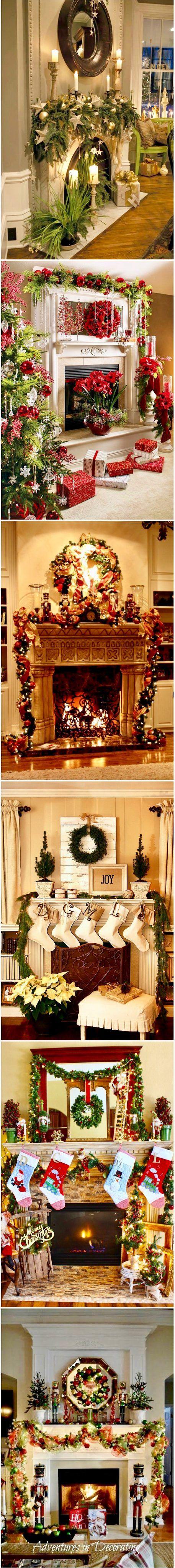 Christmas Mantel Decorating Ideas | deko | Pinterest | Dekoration ...