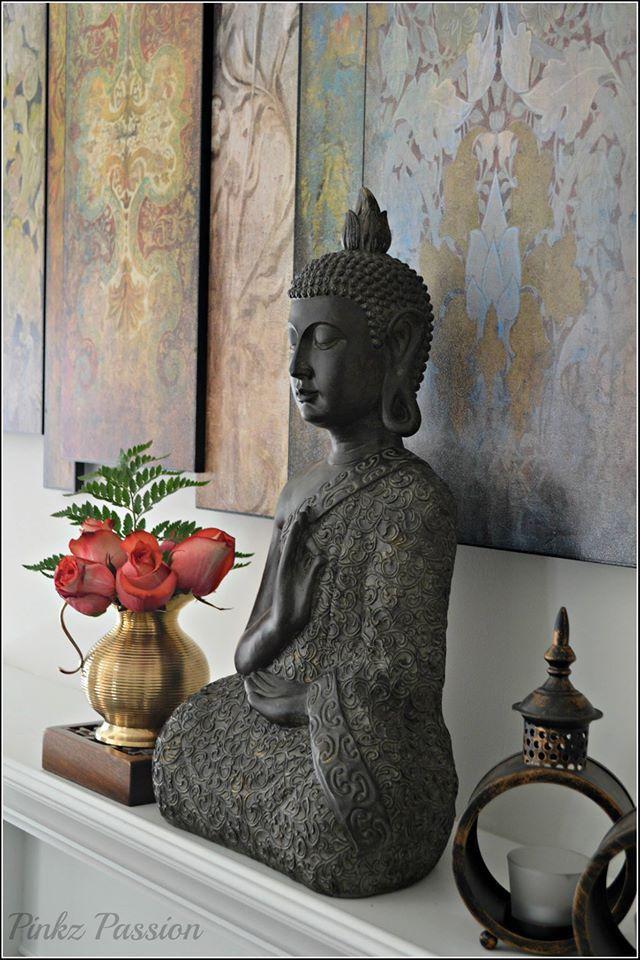 Buddha Décor Home Vignette