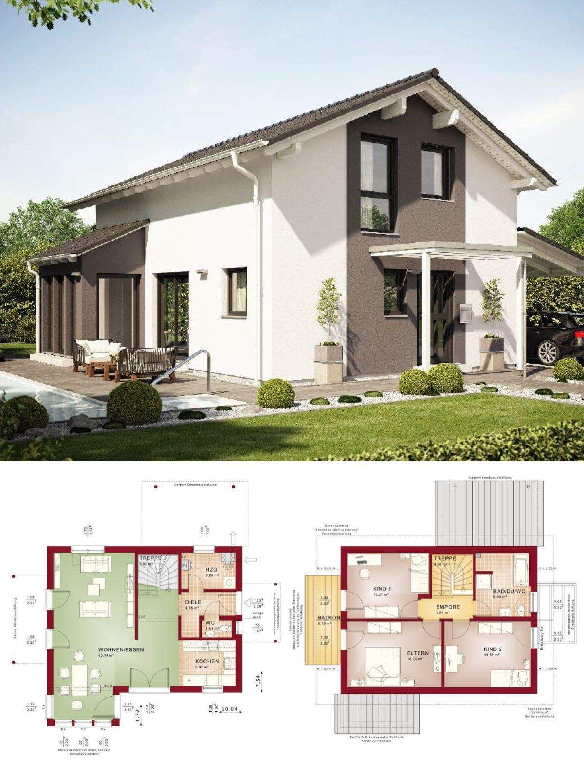 Einfamilienhaus Neubau Im Modernen Landhausstil Mit Satteldach