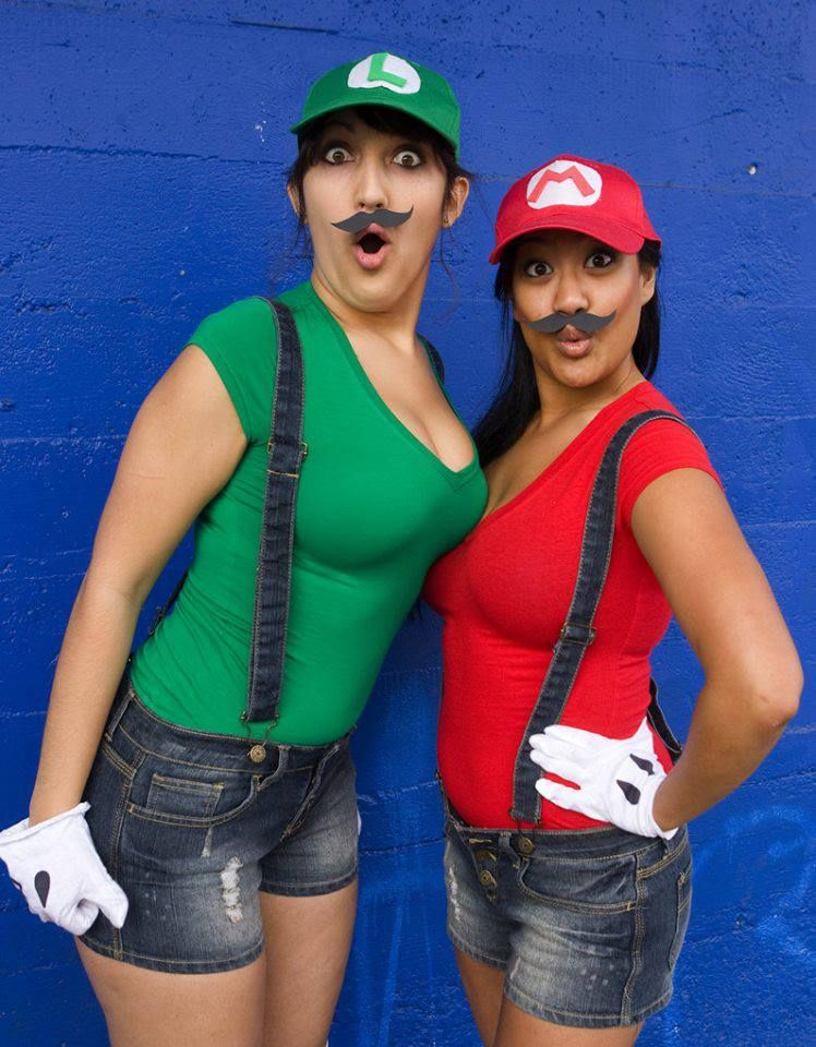 mario and luigi great and cheap halloween costumes - Girl Mario And Luigi Halloween Costumes