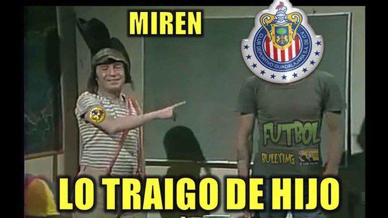 Los Memes Del Humillado Chivas Vs America Futbol Total Memes Del Clasico Futbol Memes De Las Chivas