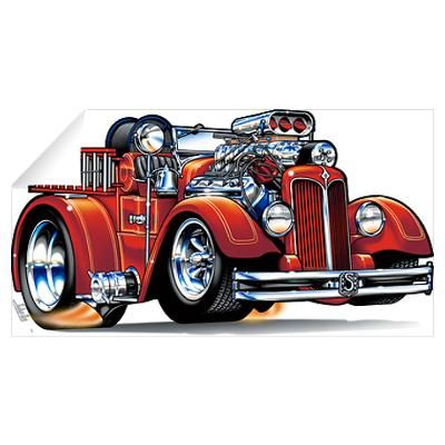 Hot Rod Fire Trucks Bing Images With Images Car Cartoon