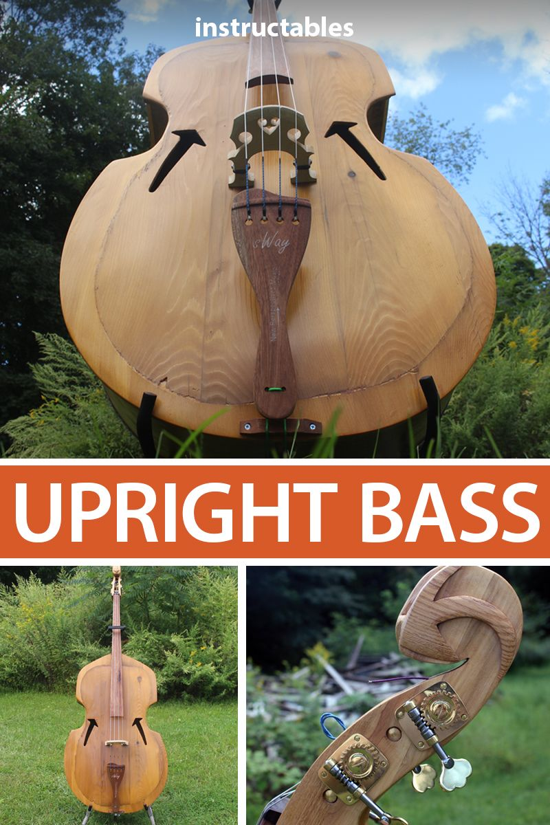 Upright Bass Made From Free (Reclaimed) Wood #musicalinstruments