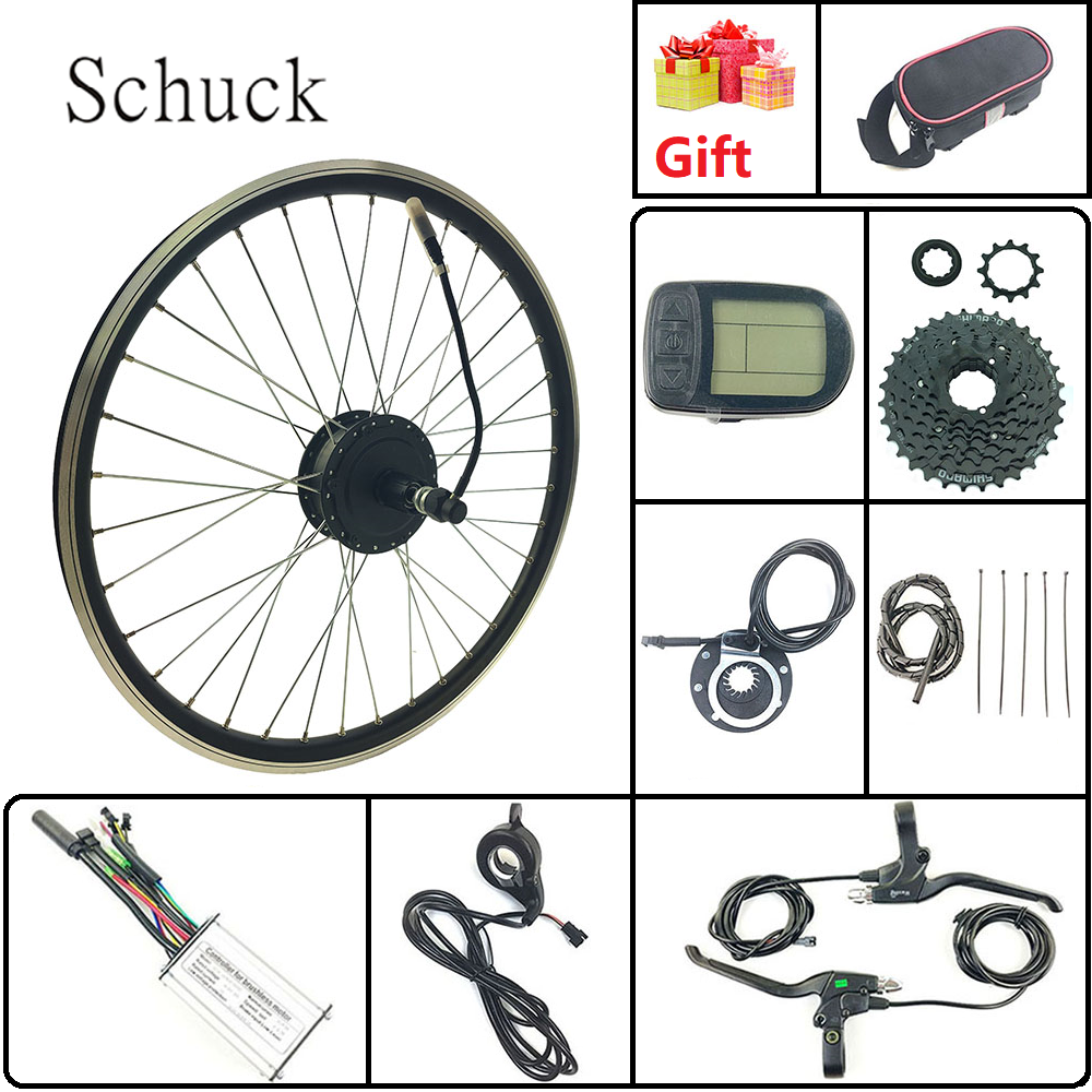 Schuck Electric Bike Conversion Kit 48v350w Rear Cassette Wheel