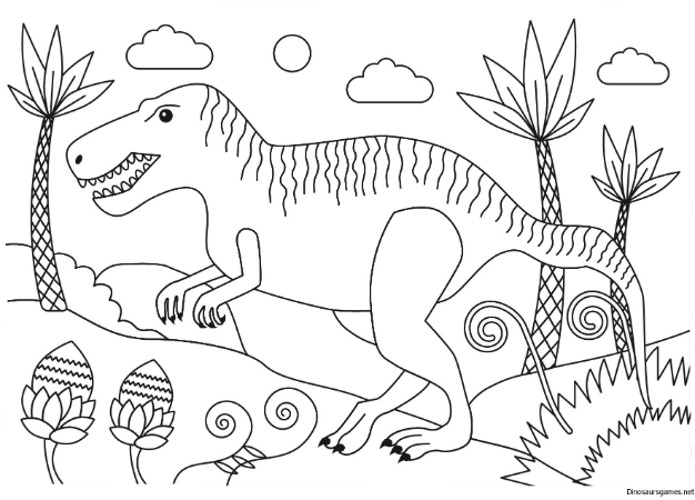 Get the Tyrannosaurus Rex Dinosaur Coloring Page from ...