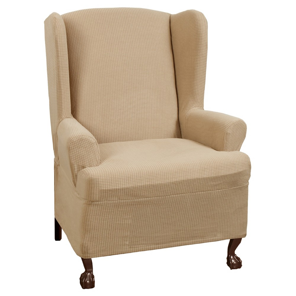 Natural Stretch Reeves Chair Slipcover (2 Piece) Maytex