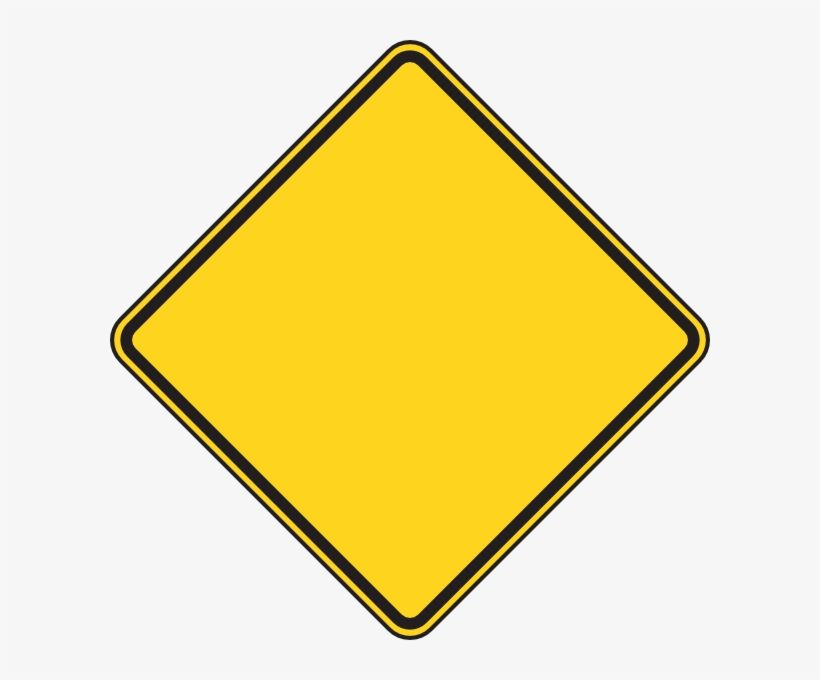 Download Yellow Stop Sign Blank Yellow Construction Sign Png Image For Free Search More Creative P Construction Signs Construction Signs Printable Stop Sign