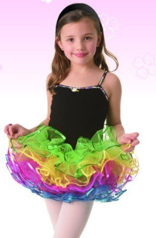 db395ca6a Posh Int l Rainbow Tutu Black Leotard Dress Girls « Delay Gifts ...