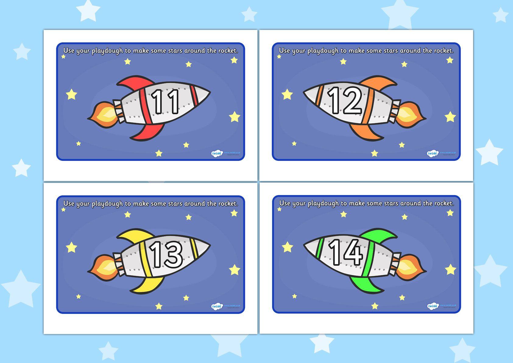 Twinkl Resources Gt Gt Rocket Playdough Mat 11 20