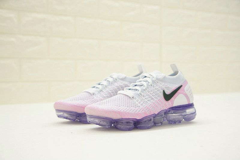 Womens New Nike Air Vapormax Flyknit 2 Hydrogen Blue Pink Black 942843-102 e121d357f