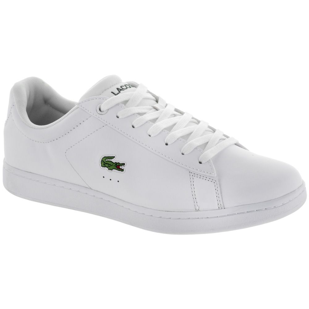 23d785903 LACOSTE Carnaby EVO LCR  LACOSTE Men s Tennis Shoes White ✅ Hit the country  club or