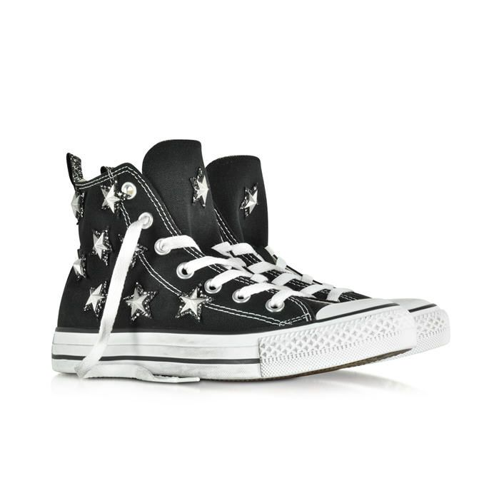all star hi converse limited edition baskets montantes femme en toile noire avec toiles et. Black Bedroom Furniture Sets. Home Design Ideas