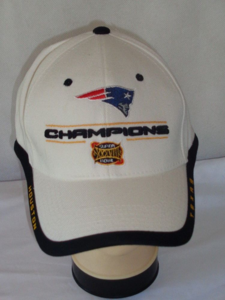 New England Patriots Super Bowl XXXVIII Champions hat cap OSFA white  NFL   NewEnglandPatriots 03a7b1476