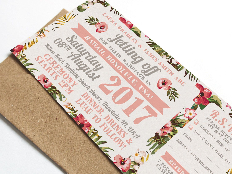 Tropical Wedding Invitation, Destination Wedding, Wedding