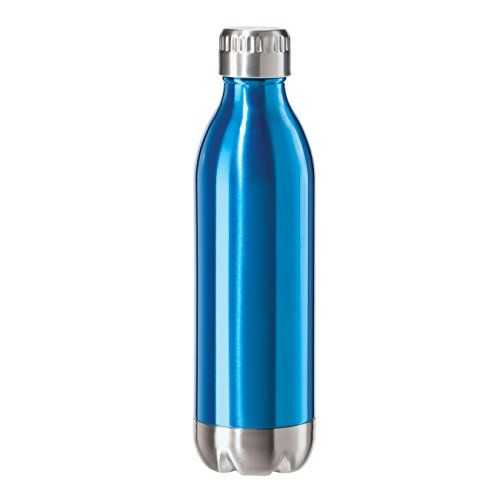 Oggi 8085.5 Stainless Steel Calypso Double Wall Sports Bottle with Screw Top (.05 Liter, 17oz )-Blue Lustre Finish *** You can get more details by clicking on the image.