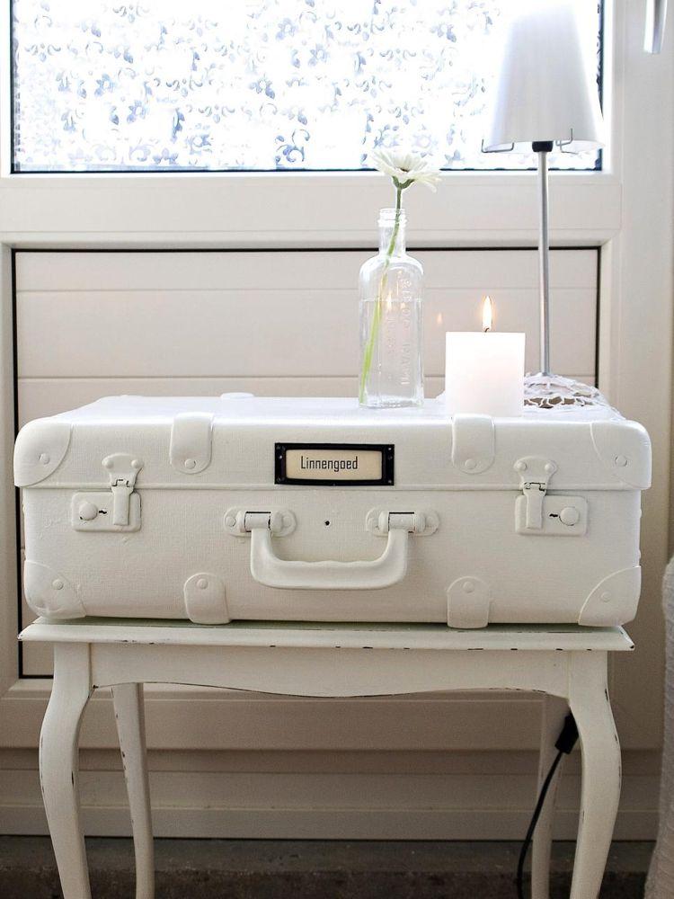 shabby chic selber machen koffer nachttisch weiss shaby chic pinterest shabby chic selber. Black Bedroom Furniture Sets. Home Design Ideas