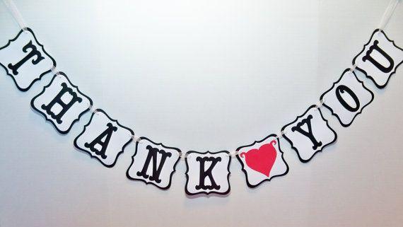 THANK YOU banner/ wedding garland/ wedding by BethsBannerBoutique, $16.00