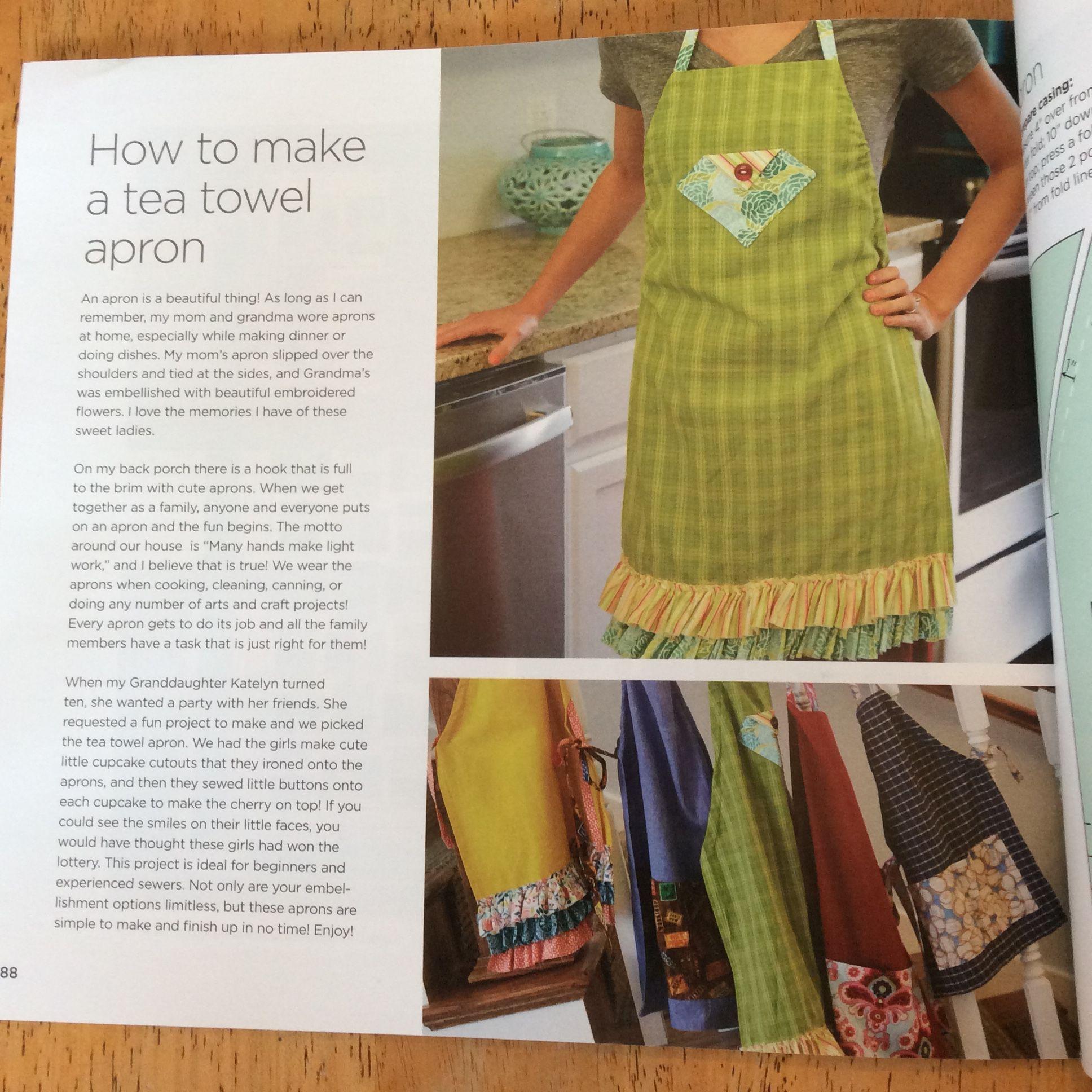 Tea Towel Apron Pattern Brand New by Missouri Star Quilt Company