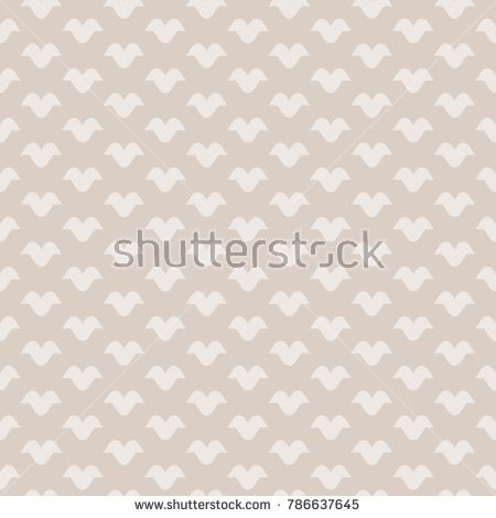 Vector Vintage Geometric Seamless Pattern In Soft Pastel Colors Beige And Light Brown Retro Style Background Subtle Abstract Ornamental Texture