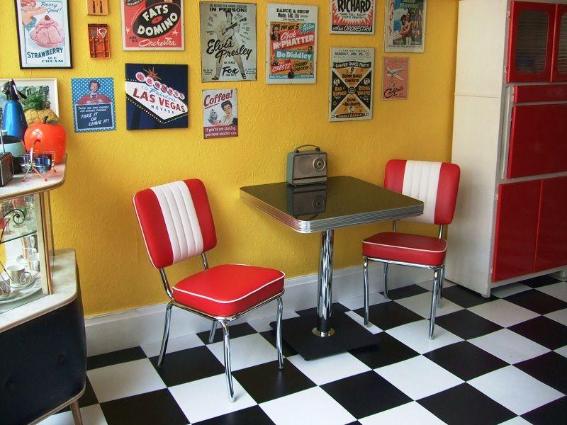american diner style kitchen wohnen pinterest boden stuhl und wohnen. Black Bedroom Furniture Sets. Home Design Ideas