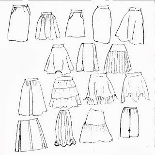 Todas las faldas que puede hacer del basico de falda | El costurero de Stella