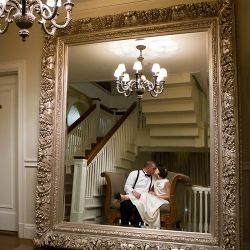 Lindsay and Ryan brought many 20's, 30's and 40's period details to their wedding. This mirror was begging to be used that night.