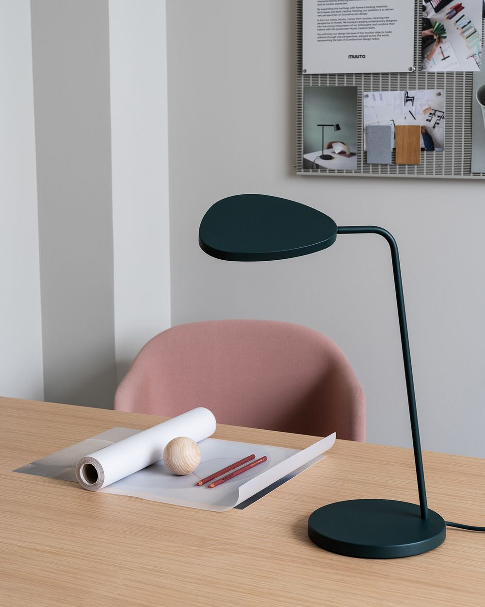 Scandinavian Lighting Inspiration From Muuto A Sleek And Contemporary Addition To Any Home O In 2020 Scandinavian Furniture Design Leaf Table Office Space Inspiration