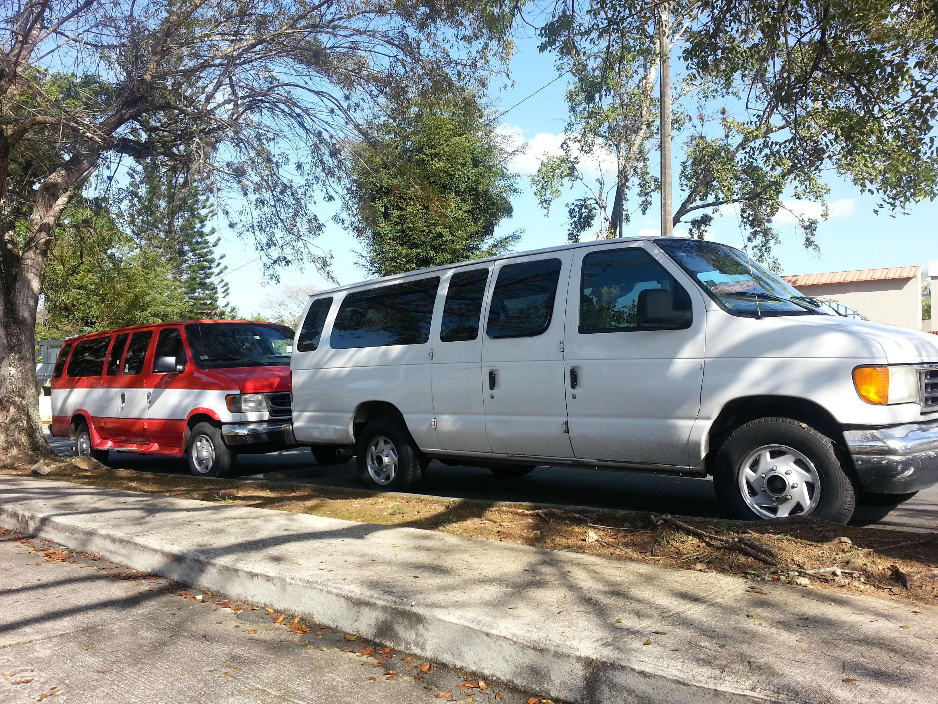 2 15 Pasenger Vans For Rent Waiting Your Group In San Juan Or