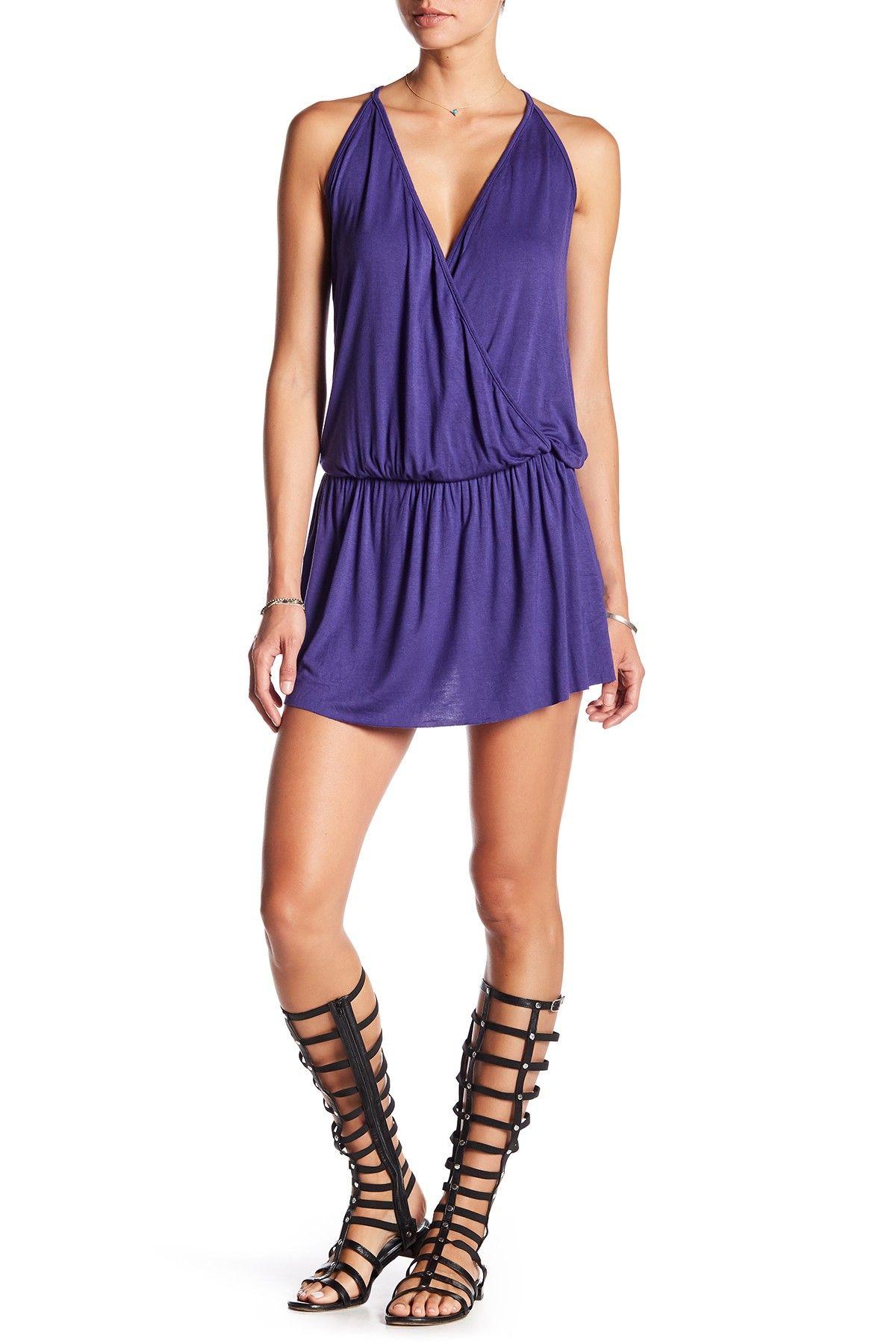 Hannah Surplice Neck Dress