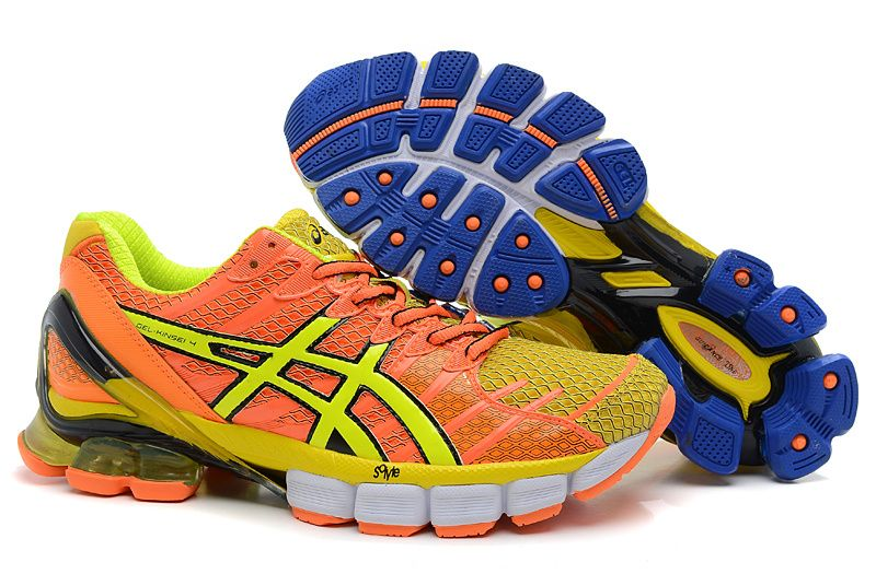 acheter en ligne 1f130 1d999 Asics Kinsei 4 Mens Vivid Orange Yellow Volt Old Royal | The ...