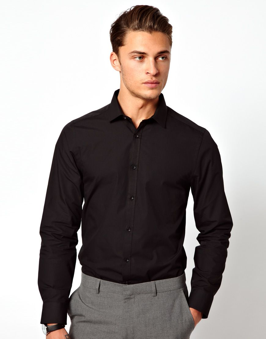 black-dress-shirt.jpg (870×1110) | Men's Style | Pinterest | Dress ...
