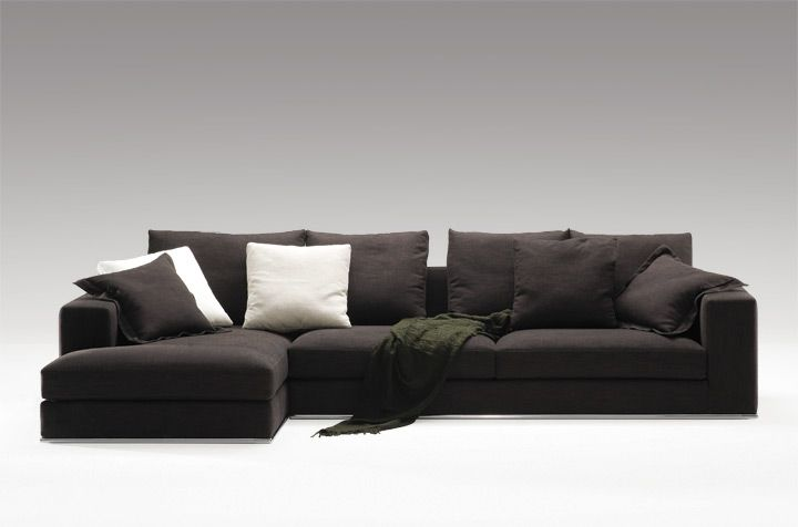 Camerich Lean Sectional  The Lean Sectional Series Features An Angled Back,  Tubular Chromed