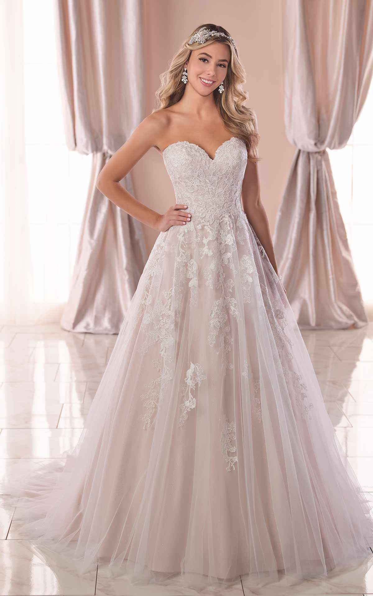 be09adc069 A-Line Wedding Dress with Sparkle Tulle - Stella York Wedding Dresses