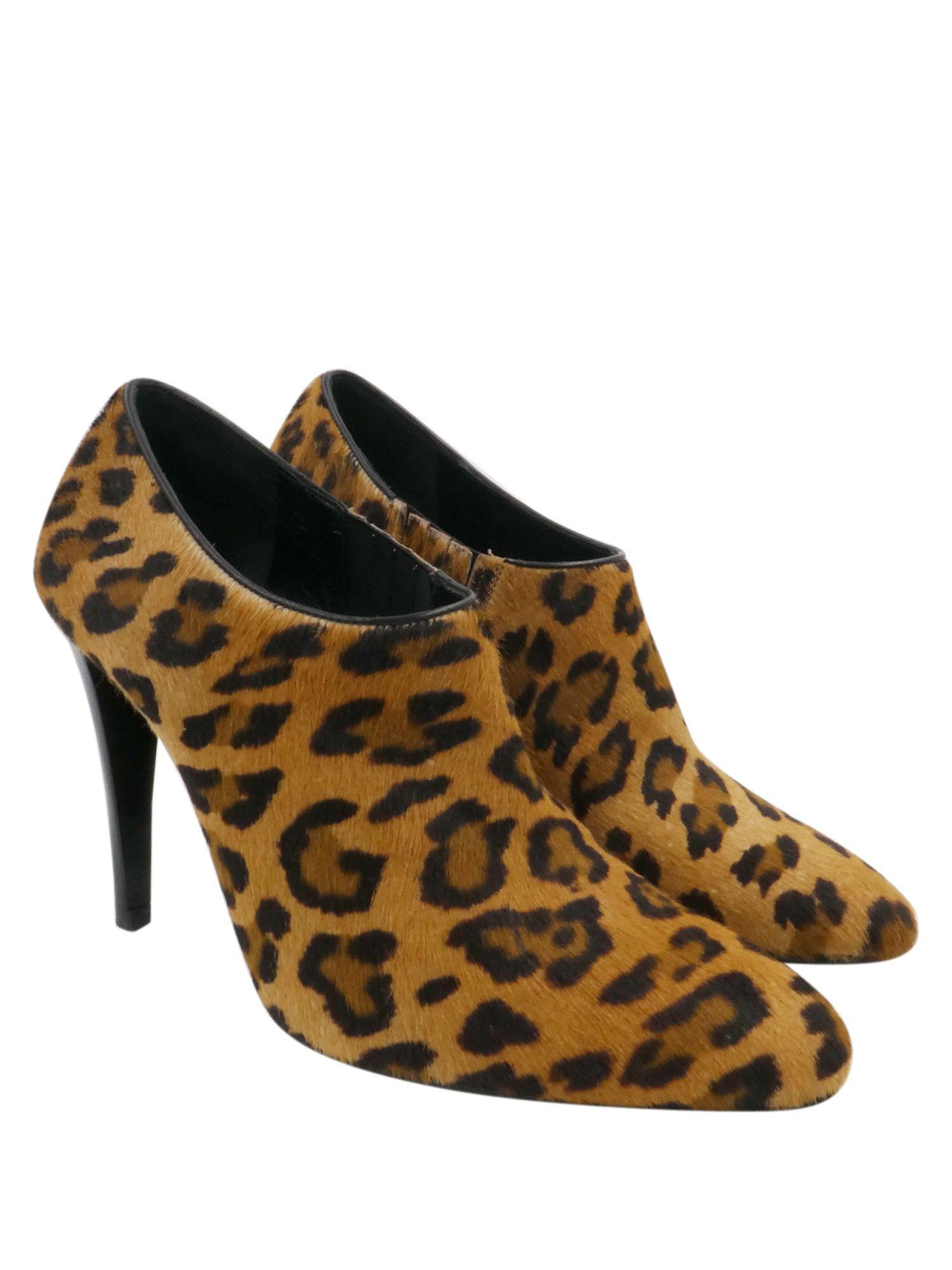 """Ralph Lauren Leopard Print Haircalf """"Kerby""""Sz 7 Booties"""