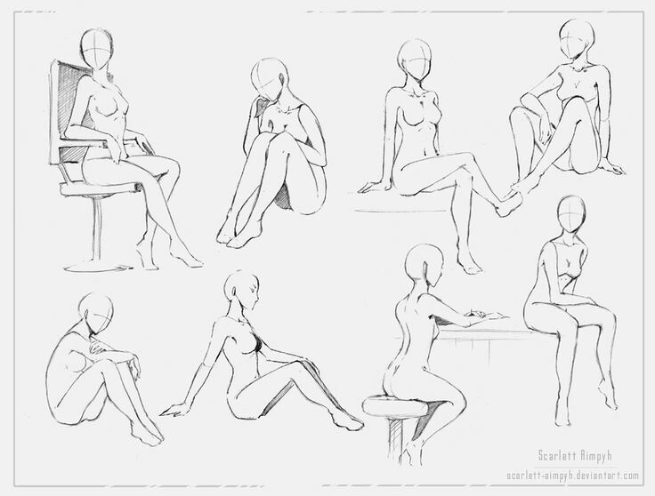 Sitting positions body how to draw manga anime