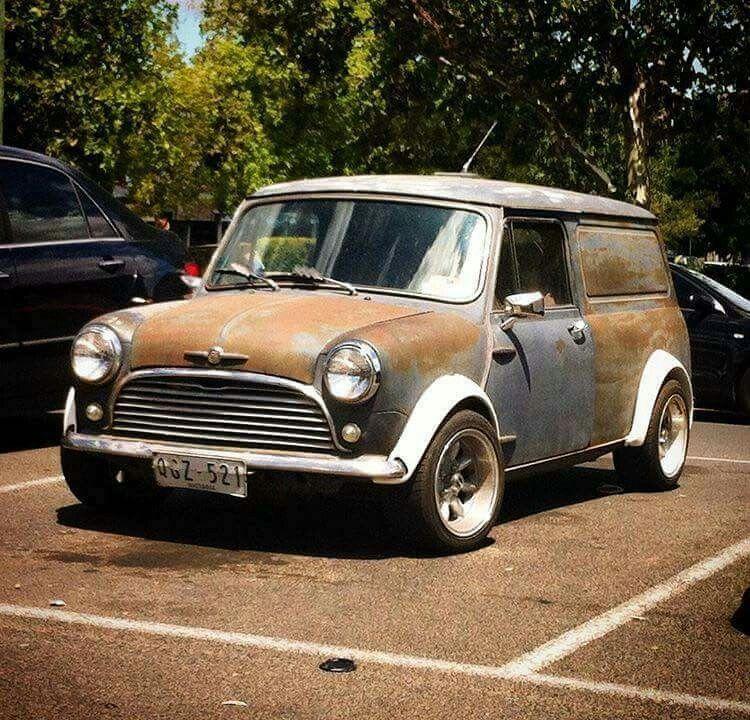 Mini Van Rat Style Lowered Stance Mini Pinterest Minis
