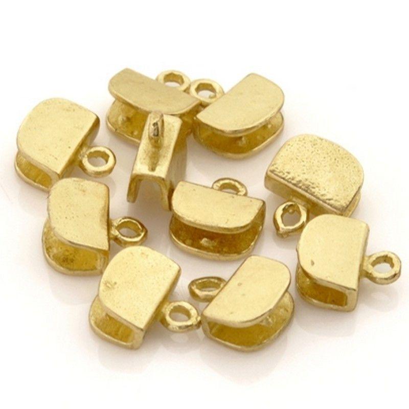 Findings-8mm Brass-Flat Crimp End-Quantity 10