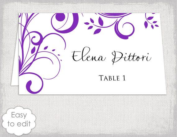 7edd1bb14c681 Name card template purple