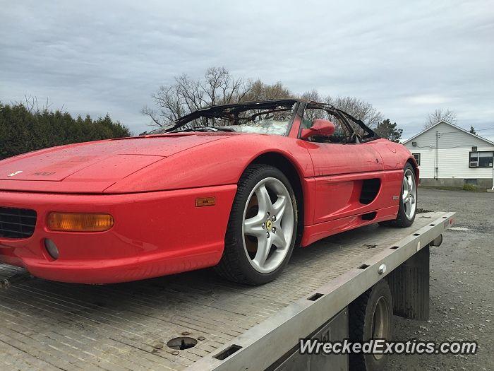 Ferrari F355 Spider crashed in Sudbury, Ontario Canada ...