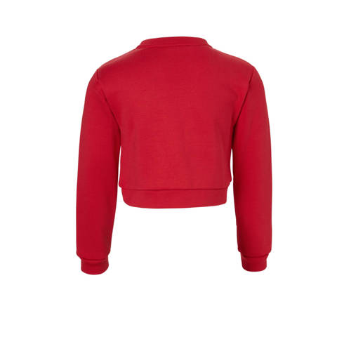 83ad798a7c4 GUESS cropped sweater met logo rood in 2019 | Products | Pinterest ...