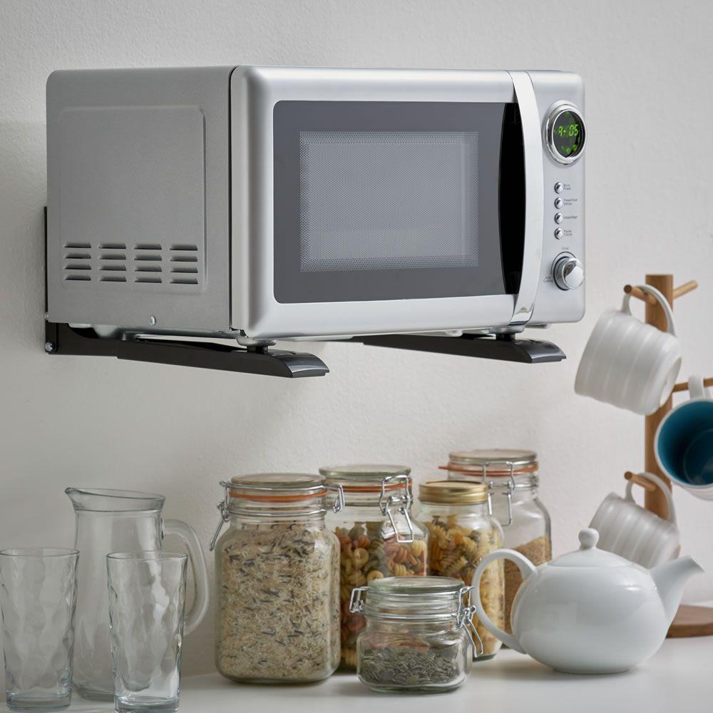 Microwave Brackets 10 Wilkos Cream Shaker Kitchen Mini Ovens Oven