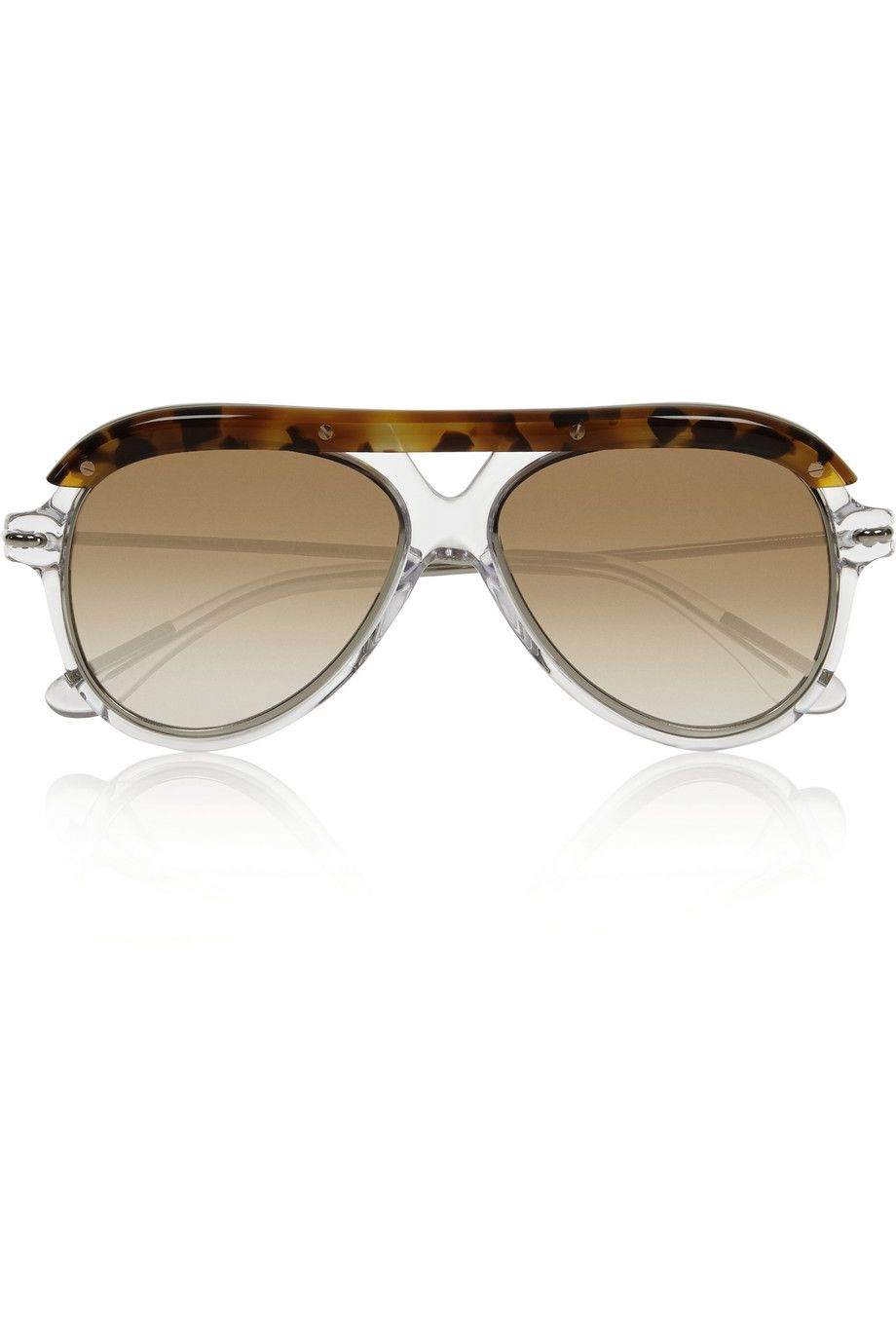 Roland Mouret - Hudson aviator-style acetate and metal sunglasses