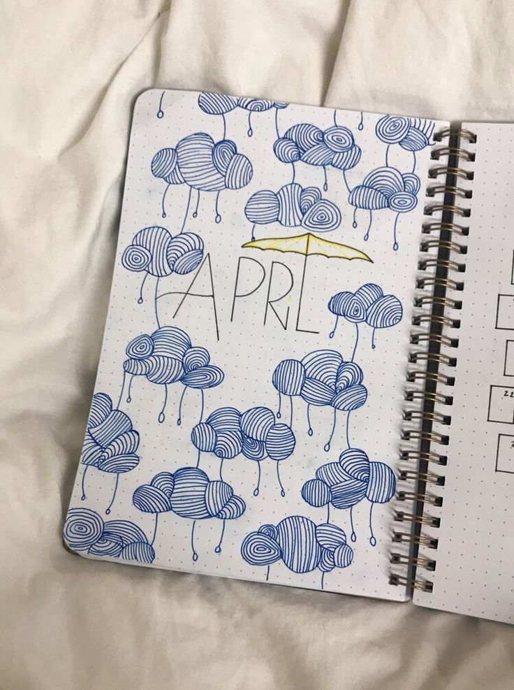 Bullet Journal inspiration for April #bujo #april ... - #April #bujo #Bullet #Inspiration #Journal #rain #septemberbulletjournalcover