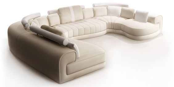 Wohnlandschaft u form  wohnlandschaft u form leder baroni | Couch | Pinterest